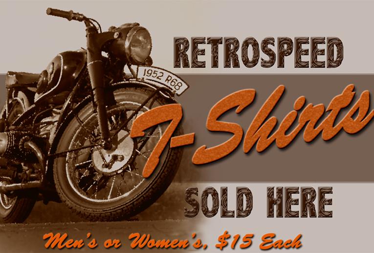 Retrospeed Vintage Motorcycle Poster Tshirts